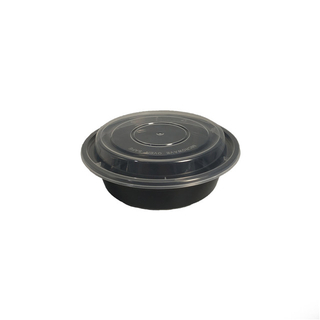 round plastic disposable food container