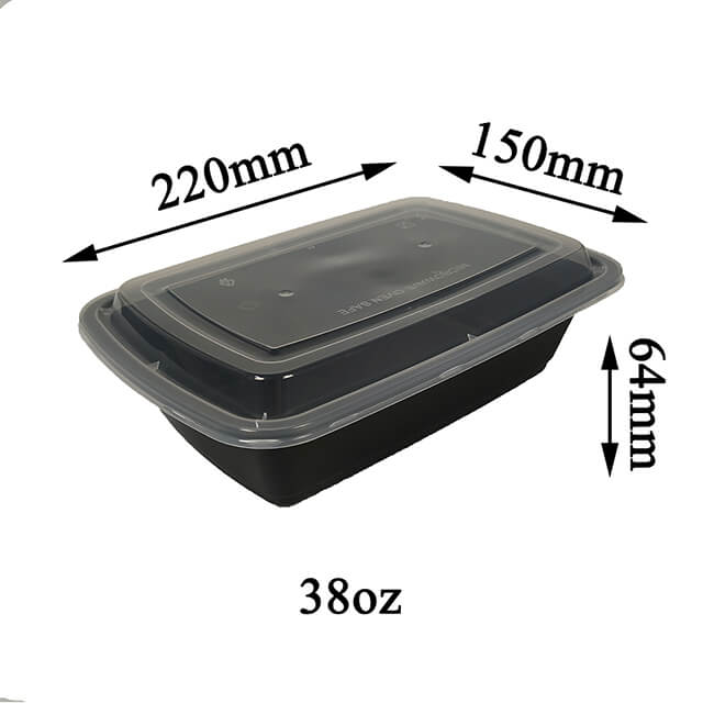 38oz 1 Compartment Lunch Box Manufacturer Microwave Safe Leakproof