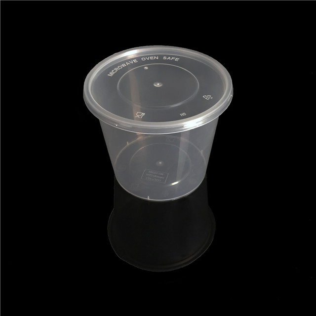 24oz/672ml eco friendly plastic food containers disposable round lunch box bento box with lid