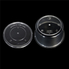 450ml Black Plastic Round Disposable Meal Box Wholesale