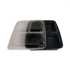 1000ml 3 Compartment Food Containers Storage Leak Proof Lunch Box with Lid