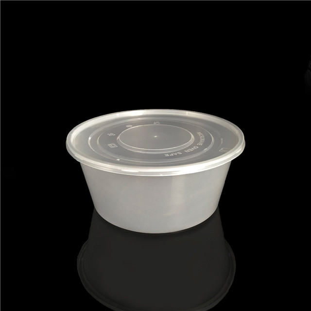 3500ml wholesale round lunch box disposable plastic food container
