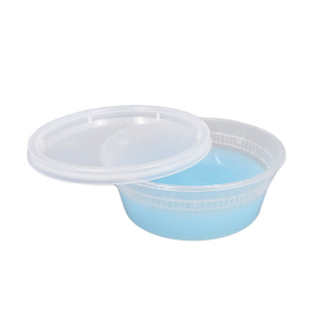 8 Oz BPA Free Plastic Deli Food Storage Containers with Airtight Lids
