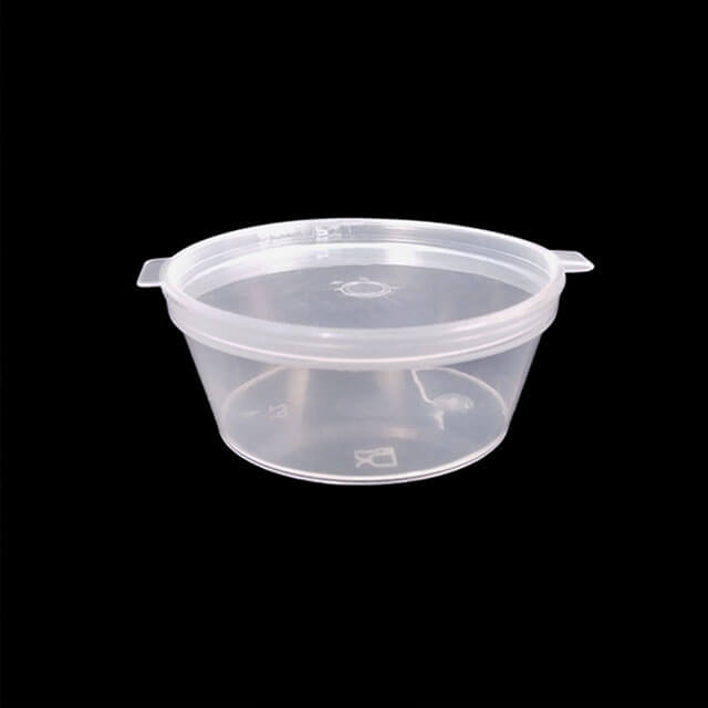 2oz Sauce Cup Transparent Spice Tasting Ketchup Clear Plastic Cup with Hinged