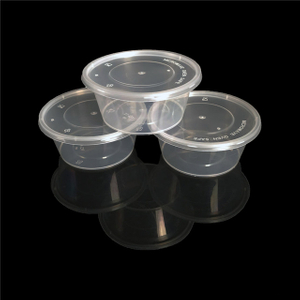wholesale disposable round clear plastic food storage container