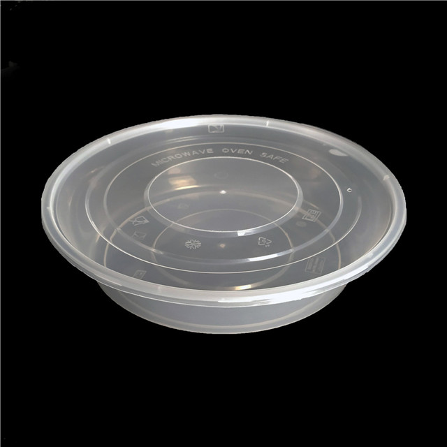 2250ml meal prep containers plastic round food containers disposable lunch bento boxes