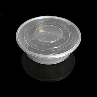 2500ml takeaway food plastic round packaging container boxes